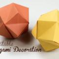 Схема оригами Объемная воздушная звезда из бумаги