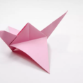Схема оригами Журавль с большими крыльями из бумаги