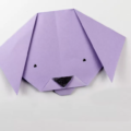 Схема оригами Милая мордочка щенка из бумаги