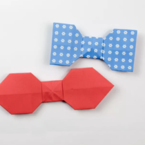 Схема оригами Галстук-бабочка из бумаги