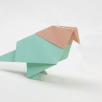 Схема оригами Голубь или Цыпленок из бумаги (коллекция: Птицы)