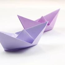 Схема оригами Кораблик из бумаги как в детстве (объемный кораблик-шляпка)
