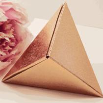 Модульное оригами Пирамида из бумаги - пошаговая схема
