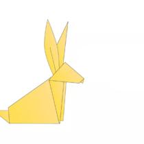 Схема оригами Кролик из бумаги