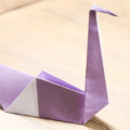 Схема оригами Лебедь из бумаги (коллекция: Птицы)