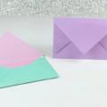 Схема оригами Классический конверт из бумаги без клея
