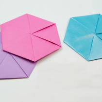 Схема оригами Шестиугольный конвертик своими руками