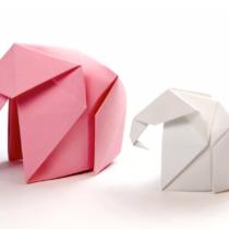 Схема оригами Слон из бумаги