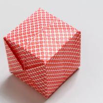 Схема оригами Кубик из бумаги - Воздушная бомбочка