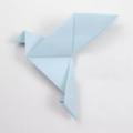 Схема оригами Голубь мира (коллекция: Птицы)