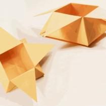 Схема оригами Коробка - Пирамида с секретом из бумаги