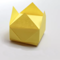 "Схема оригами ""Коробка с крышкой"". Элемент 2: Корона - крышка от коробки"