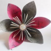 Схема оригами Цветок Кусудама из бумаги (для сборки шара Кусудама)