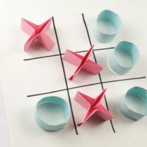 """Схема оригами игра """"Крестики-Нолики"""" из бумаги"""