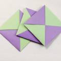 Схема модульного оригами Квадратный конверт из бумаги