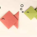 Схема оригами Милая Рыбка из бумаги по шагам