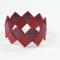 """Схема оригами украшения на руку из бумаги """"Плетенный браслет"""" для девочек"""