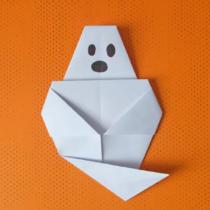Схема оригами Призрак из бумаги для начинающих