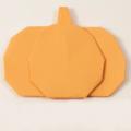 Схема оригами Тыква из бумаги (плоская фигура - декор)