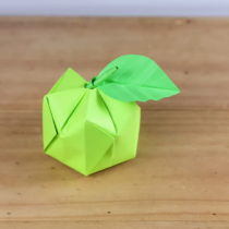 Схема оригами Яблоко 3Д из бумаги (объемное модульное оригами)