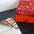 Схема оригами Закладка для книг - Уголок из бумаги