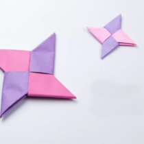 Схема оригами Звезда - оружие ниндзя из бумаги